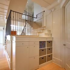 White Contemporary Custom Built-In Storage