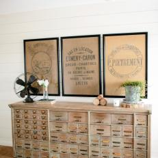 Spacious Foyer: Antique Sideboard