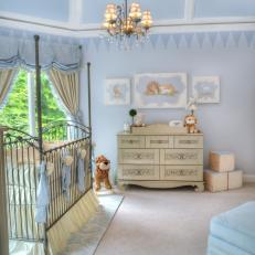 Baby Blue Nursery With Elegant Regal Design