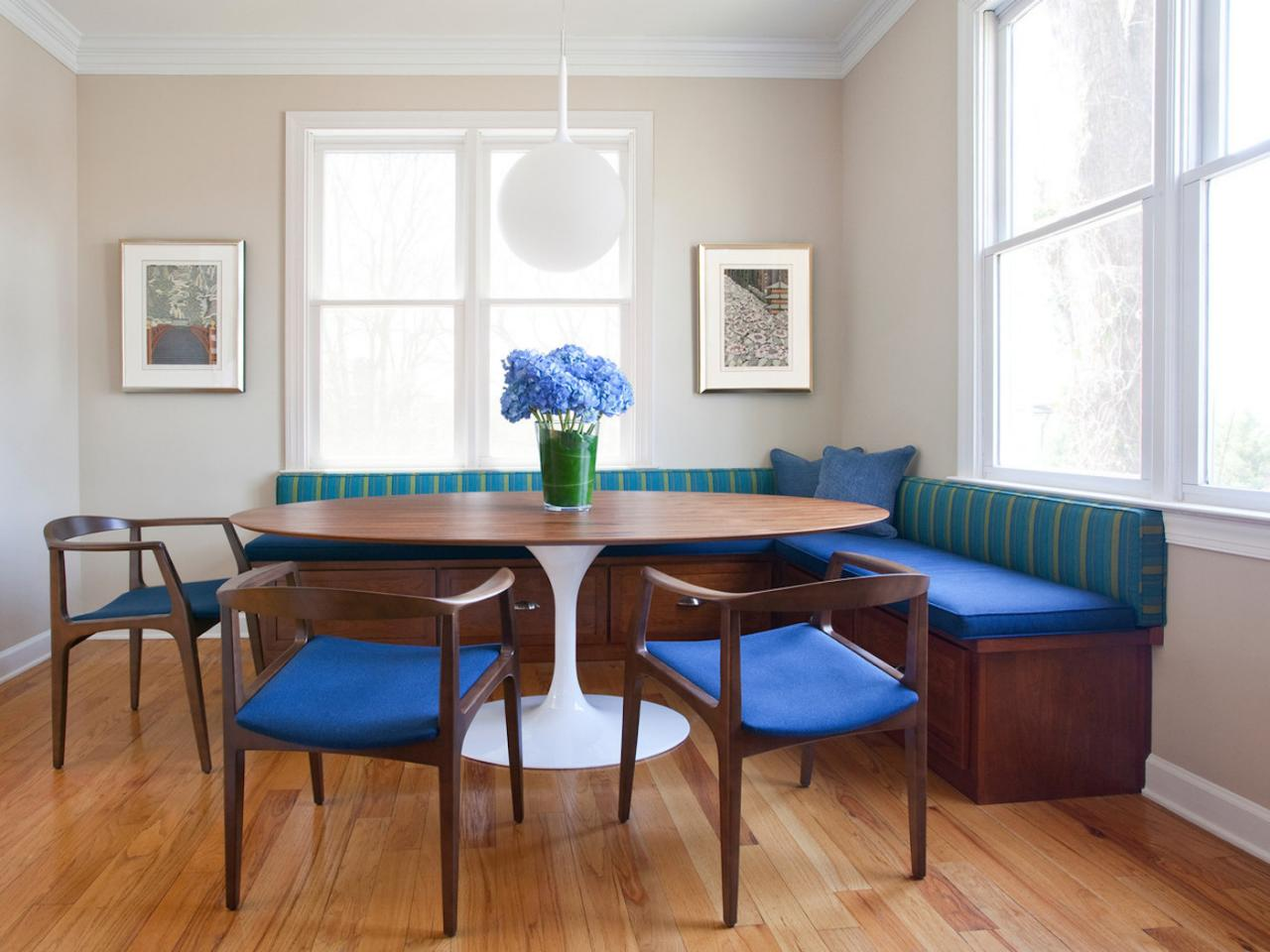 Breakfast Nook With Midcentury Modern Banquette Hgtv