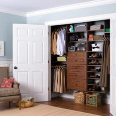 Charmant Chestnut Reach In Closet