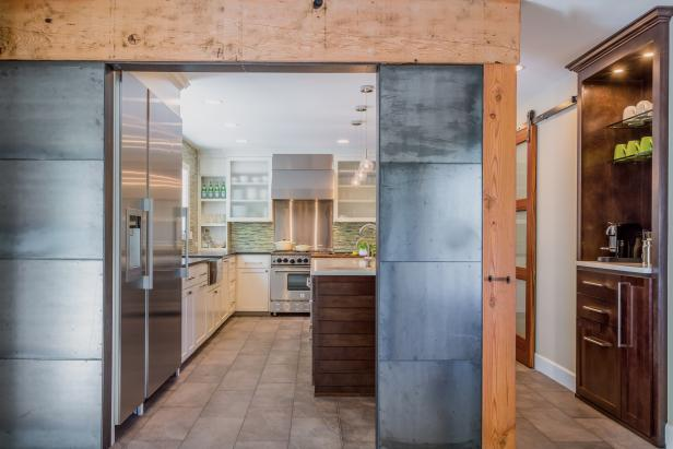 Steel and Wood Kitchen Wall