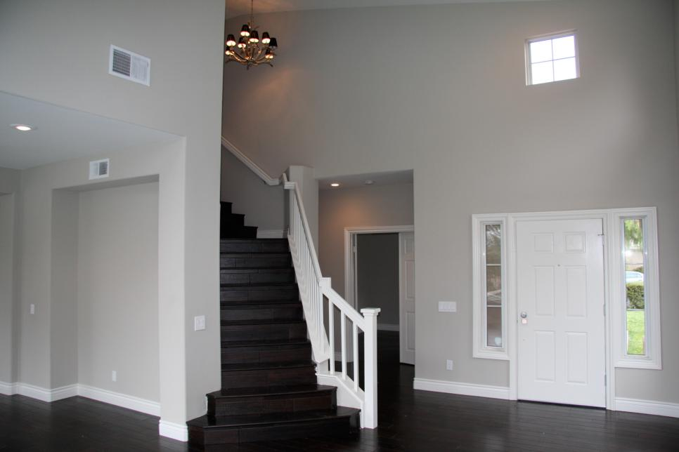 Contemporary Stair and Entrance Makeover