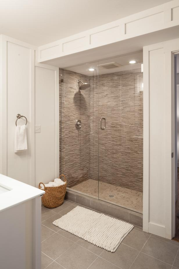 Shower with Frameless Glass Door