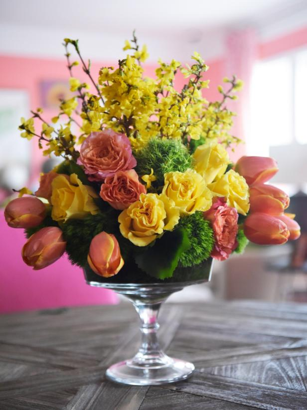 easy spring centerpiece ideas hgtv rh hgtv com  creative spring centerpieces ideas