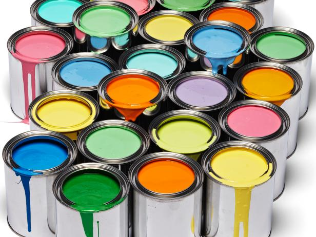 multicolored open paint cans hgtv
