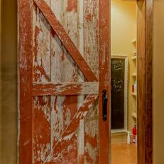 Distressed Sliding Barn Door & Photos | HGTV