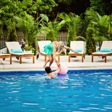 Rehab Addict: Nicole and Her Son Play in the Pool