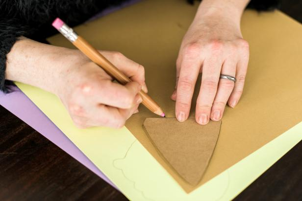 Trace the cone template onto brown or tan card stock.