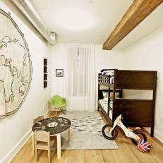 Contemporary Kids' Room With Old World Appeal