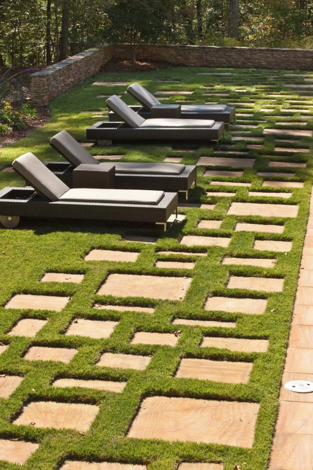 Chairs and Pavers in Grass