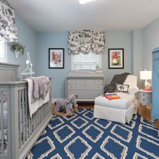 Elephant-Themed Boy's Nursery