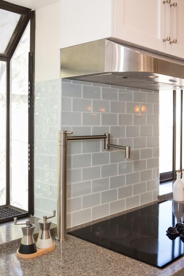 Gray Subway Tile Kitchen Backsplash Hgtv