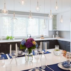 Contemporary Eat In Kitchen Island