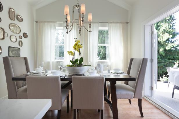Antique Accents in Contemporary Dining Room