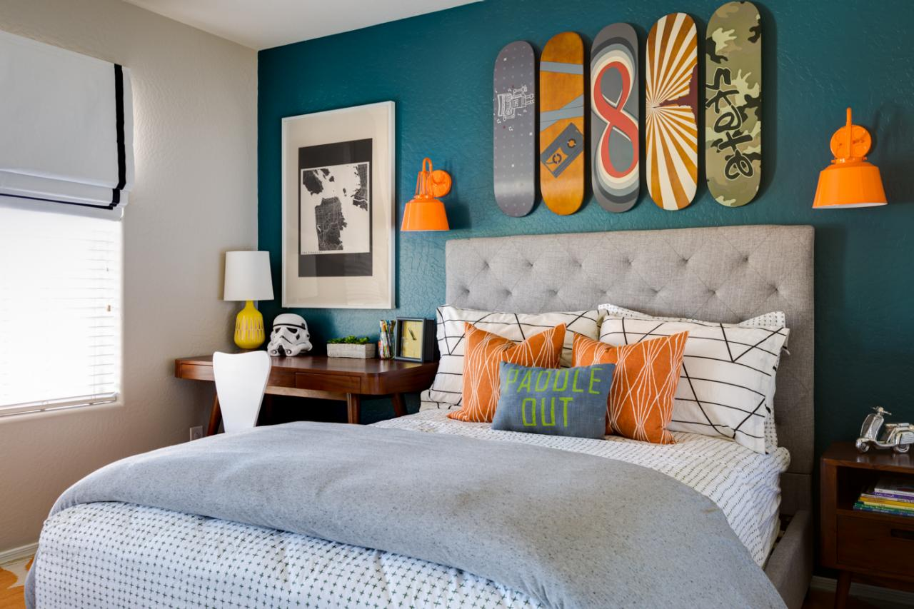 Sophisticated teen bedroom decorating ideas hgtv 39 s Teenage bedroom wall designs