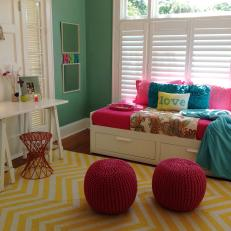 Smart Young Girl's Room with Lots of Color