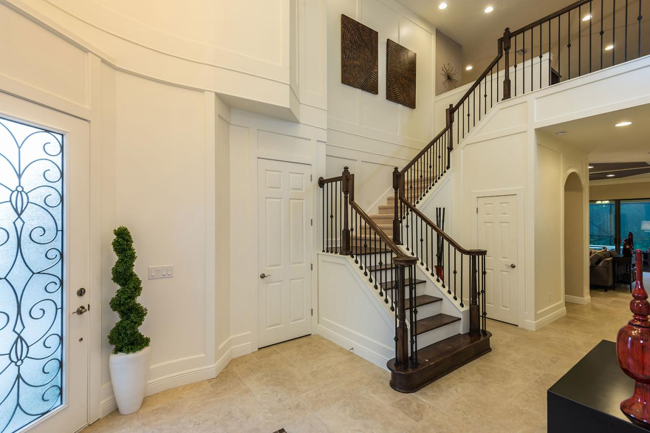 Two-Story Entryway With Grand Staircase | HGTV
