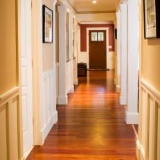 Craftsman-Style Hallway With Warm Hardwood Floors