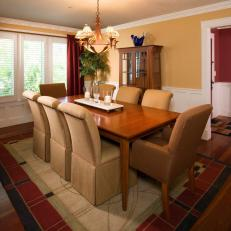 Craftsman-Style Dining Room Is Warm, Intimate