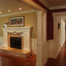 Stately Fireplace in Craftsman-Style Home