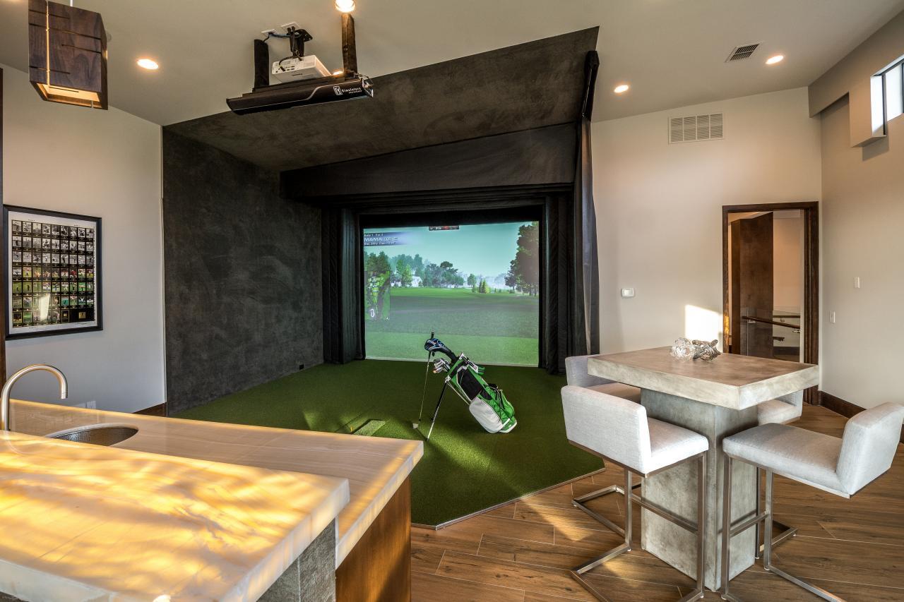 Bonus Room Boasts Golf Simulator & 25 Olympic Sport-Themed Spaces | HGTV\u0027s Decorating \u0026 Design Blog | HGTV