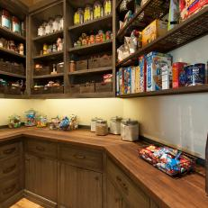 Pantry With Open Shelving