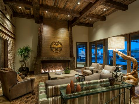 Rustic, Resort Style Home Designed for On-the-Go Family