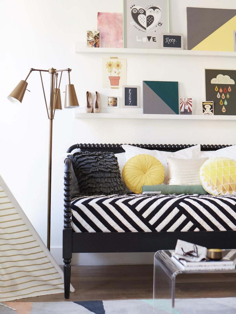 small space decorating don ts hgtv 13284 | ci land of nod small space solutions living room daybed v rend hgtvcom 966 1288