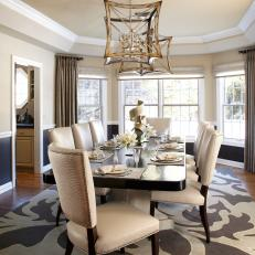 Contemporary Dining Room Exudes Sophistication