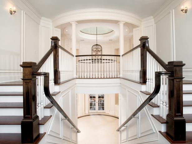 Staircase: Grand Manor in Greenwich, Conn.