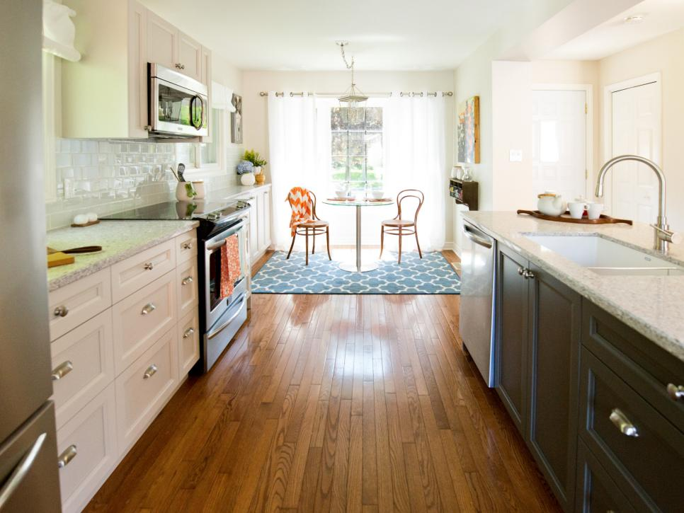 Clean Bright Kitchen Without Wall
