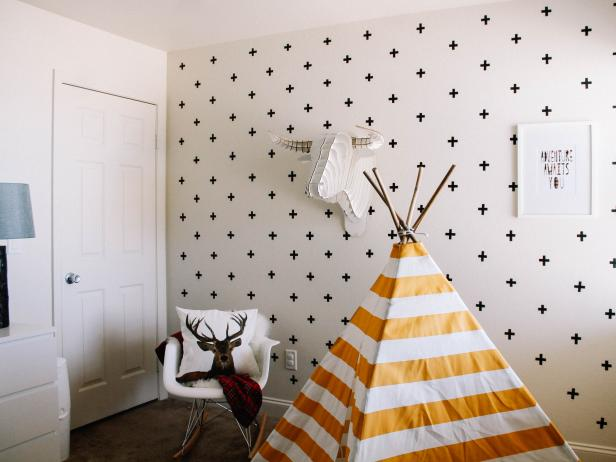 Accent Walls From Washi Tape