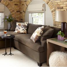 Sitting Nook With Brick Detailing