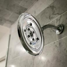 Fixer Upper: Brand-New Showerhead in Renovated Bathroom