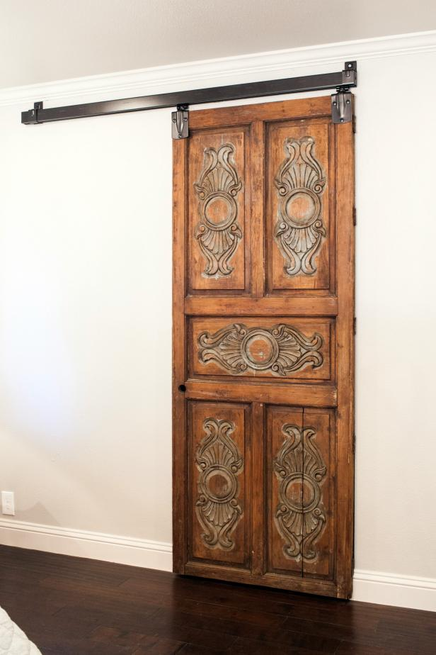 Fixer Upper: Antique Closet Door in Remodeled Bedroom