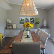 Gray Shabby Chic Style Dining Room
