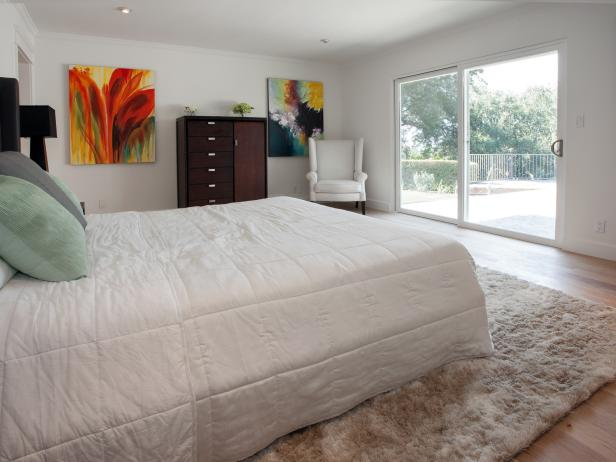 Bright White Modern Master Bedroom Remodel