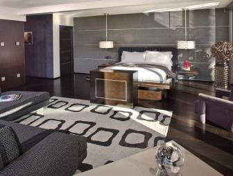 Modern Master Bedroom With Sitting Room