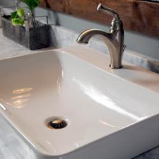 Vessel Sink and Marble Countertop