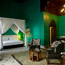 Jade Green Bedroom Boasts Moroccan Style