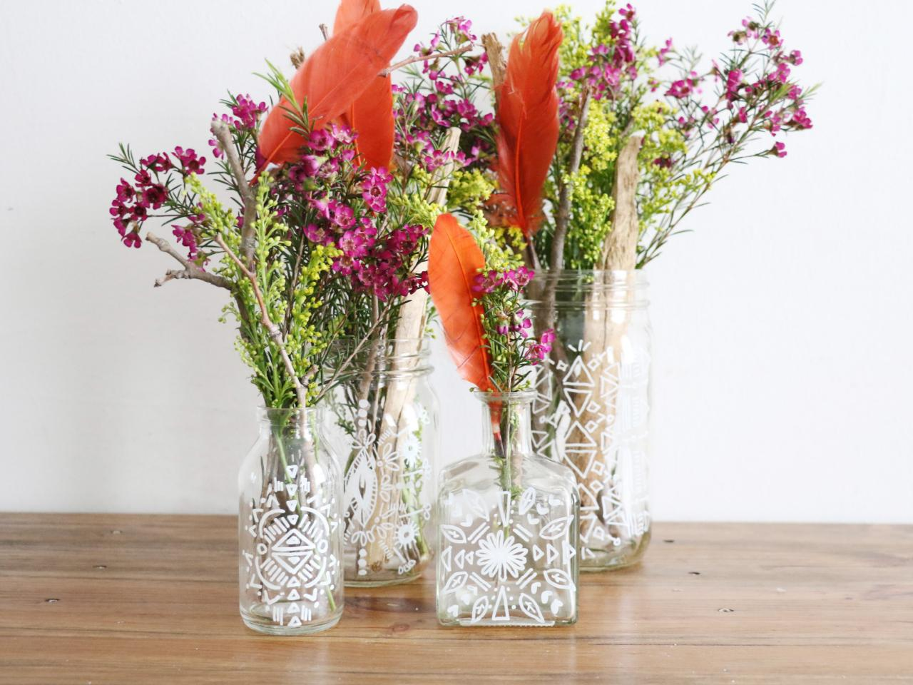 11 easy crafts using everyday items hgtvs decorating design bohemian inspired vases and jars reviewsmspy