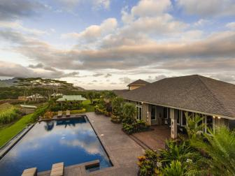 Hawaiian Backyard Features Roomy Lanai, Custom Pool