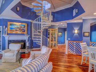 Spiral Staircase: Island Retreat in Wilmington, NC