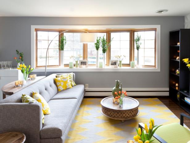 Open Living Room with Bright Light and Colors