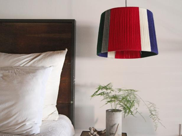 Colorful Yarn Lampshade