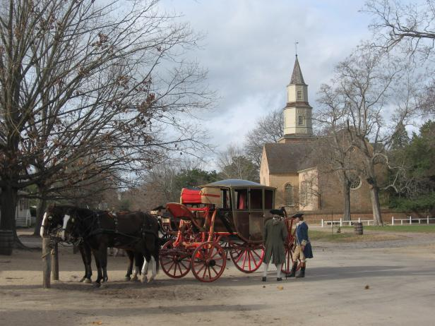 A Colonial Scene in Williamsburg, Virginia