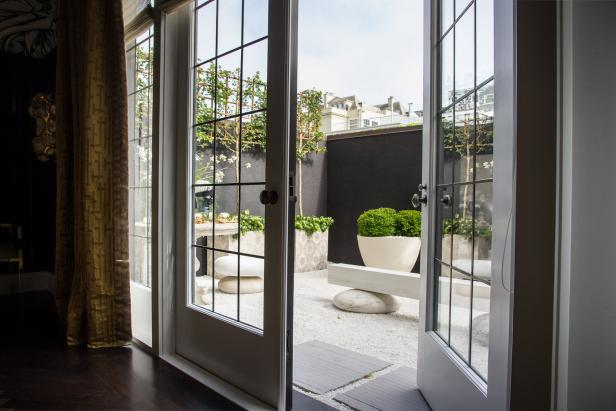 Leaded Glass French Doors