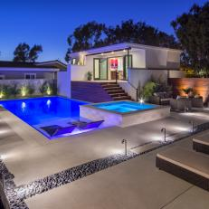 Modern Swimming Pool With Sleek Concrete Deck