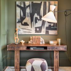 Copper Midcentury Modern Desk Creates Bold Statement